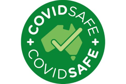 Covid Safe Logo for TMTR